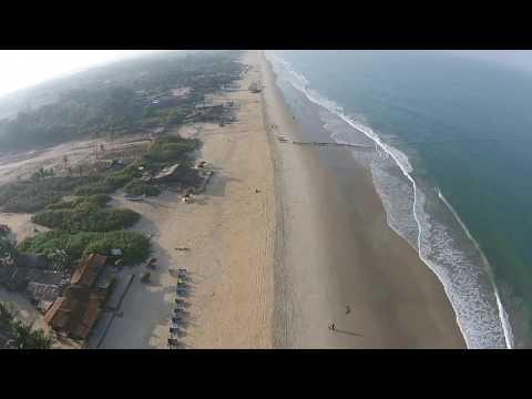 Benaulim, Goa, India. Drone Aerial View