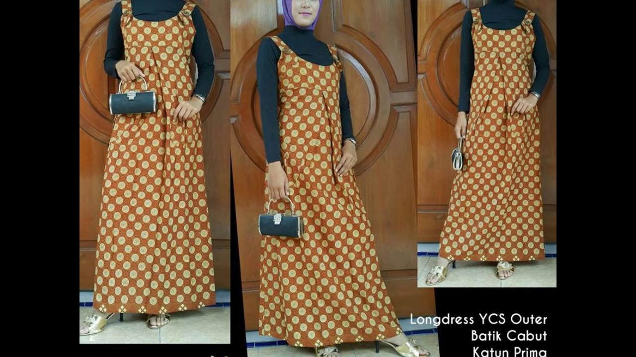 Wa 0812 2533 6662 Gamis Batik Prada Gamis Batik Payung Youtube