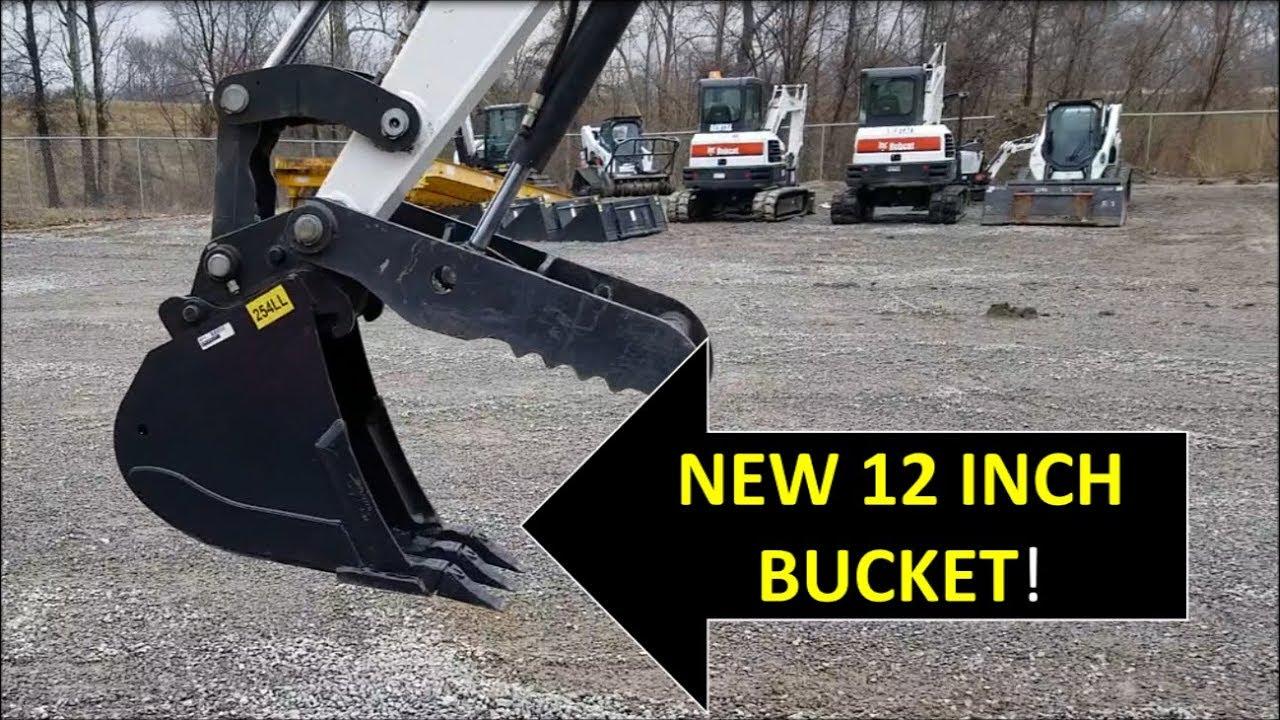 Farm Vlog New 12 inch bucket for the Bobcat Excavator