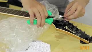 Thay dây và căn chỉnh đàn Electric Guitar sử dụng Floyd Rose 3. Thay dây mới