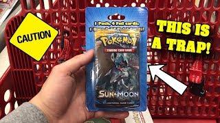 *I REPEAT! DO NOT BUY THIS!* Opening STRANGE Pokemon Card Blister Packs from TARGET!