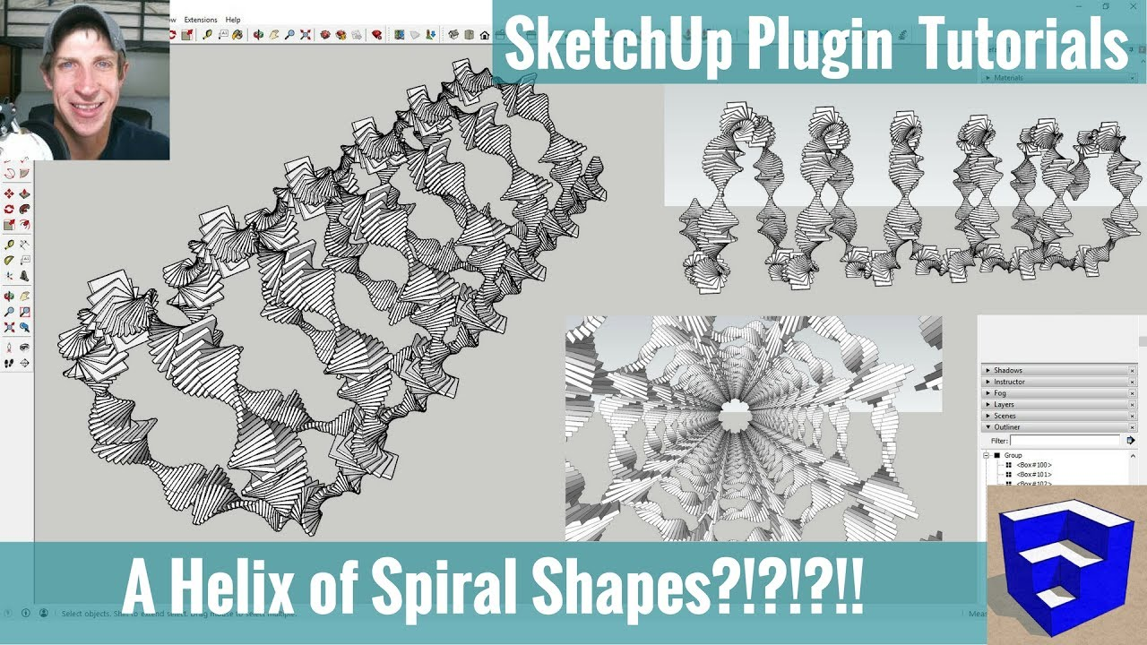 Creating a Helix of Spiral Shapes with Memory Copy and Fredo