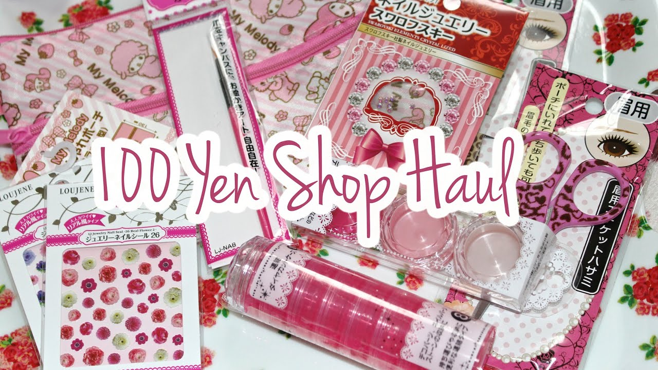 Haul 2014: Nail Art & More | 100 Yen Shop Japan ♡ - YouTube