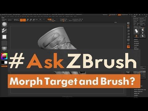 "#AskZBrush: ""How Does The Morph Target And Morph Brush Work Inside Of ZBrush?"""