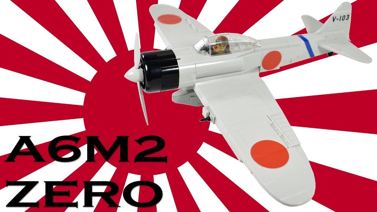 cobi small army ww2 mitsubishi a6m2 zero (5515) quick build + review