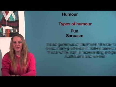 VCE English - Humour (Language Analysis)