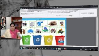 Many-to-One Drag and Drop Interaction: Waste Segregation