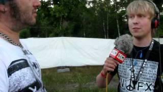 Radio X3M på Ruisrock. Teresa och Nicke fick en spontan intervju av...