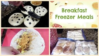 Breakfast Freezer Meals  Burritos, Egg McMuffins & Pancakes