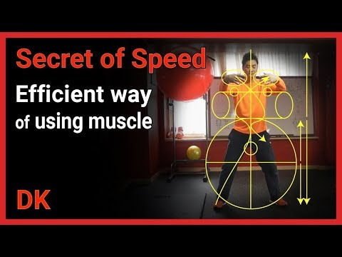Secret of speed - efficient way of using muscle