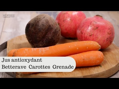 Jus antioxydant  betterave carottes grenade