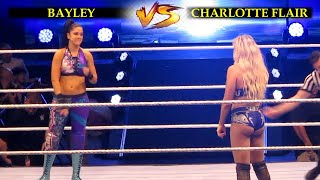 CHARLOTTE FLAIR vs BAYLEY LIVE EVENT IN WWE MANILA 2019