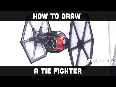 How to draw a Star Wars Tie Fighter