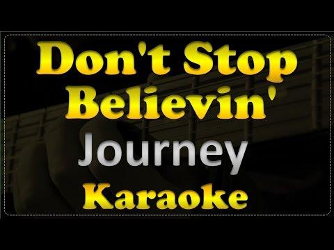 Journey - Don't Stop Believin' - Acoustic Guitar Karaoke # 8