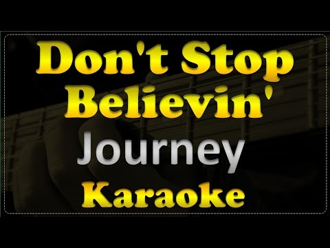 Journey - Don't Stop Believin' - Acoustic Guitar Karaoke # 8
