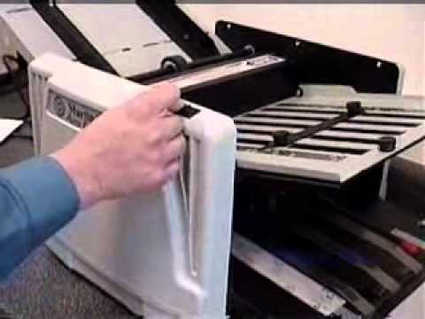 Martin Yale 1217a Paper Folder Video Demo From Office Zone Youtube