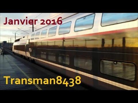 Départs et arrivées de trains en gare d'Avignon-TGV (1)