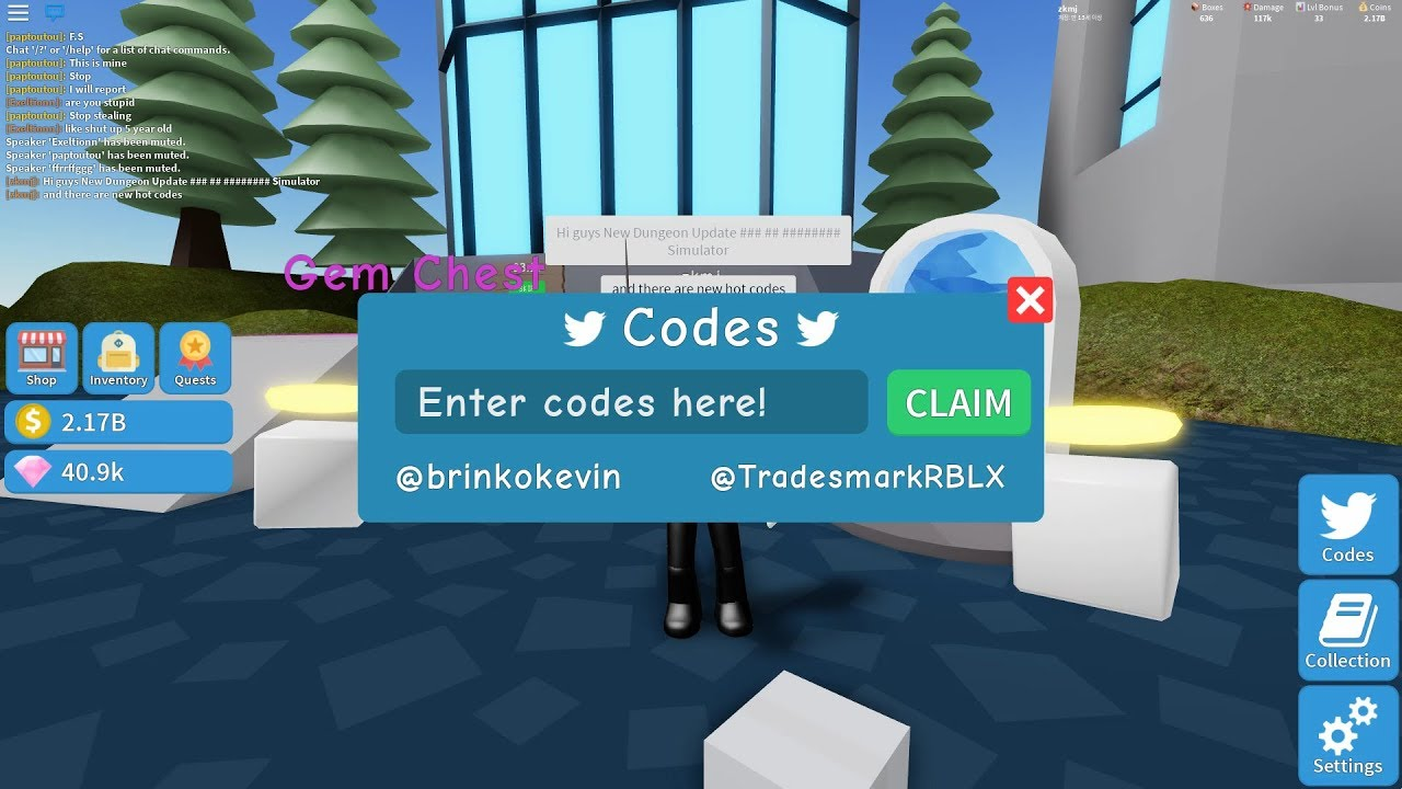 Roblox Codes Dungeon Unboxing Simulator Youtube