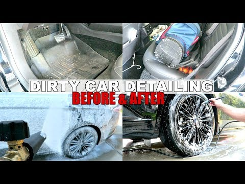 DIRTY CAR DETAILING | COMPLETE INTERIOR & EXTERIOR CLEANING OF FORD FUSION