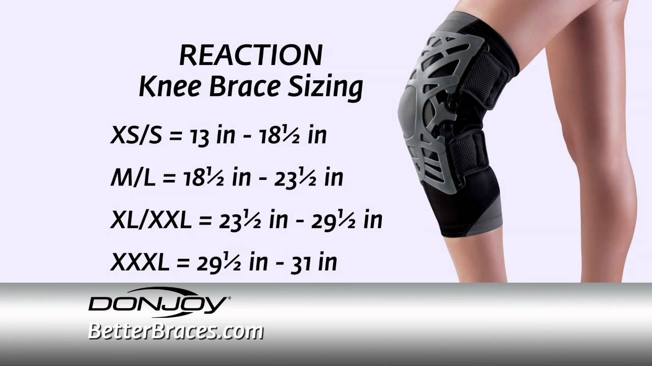 Donjoy reaction knee brace sizing how measure for the right size youtube also rh