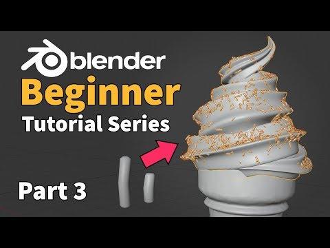 Blender 2.8 Beginner Tutorial - Part 3 : Particle Instancing thumbnail
