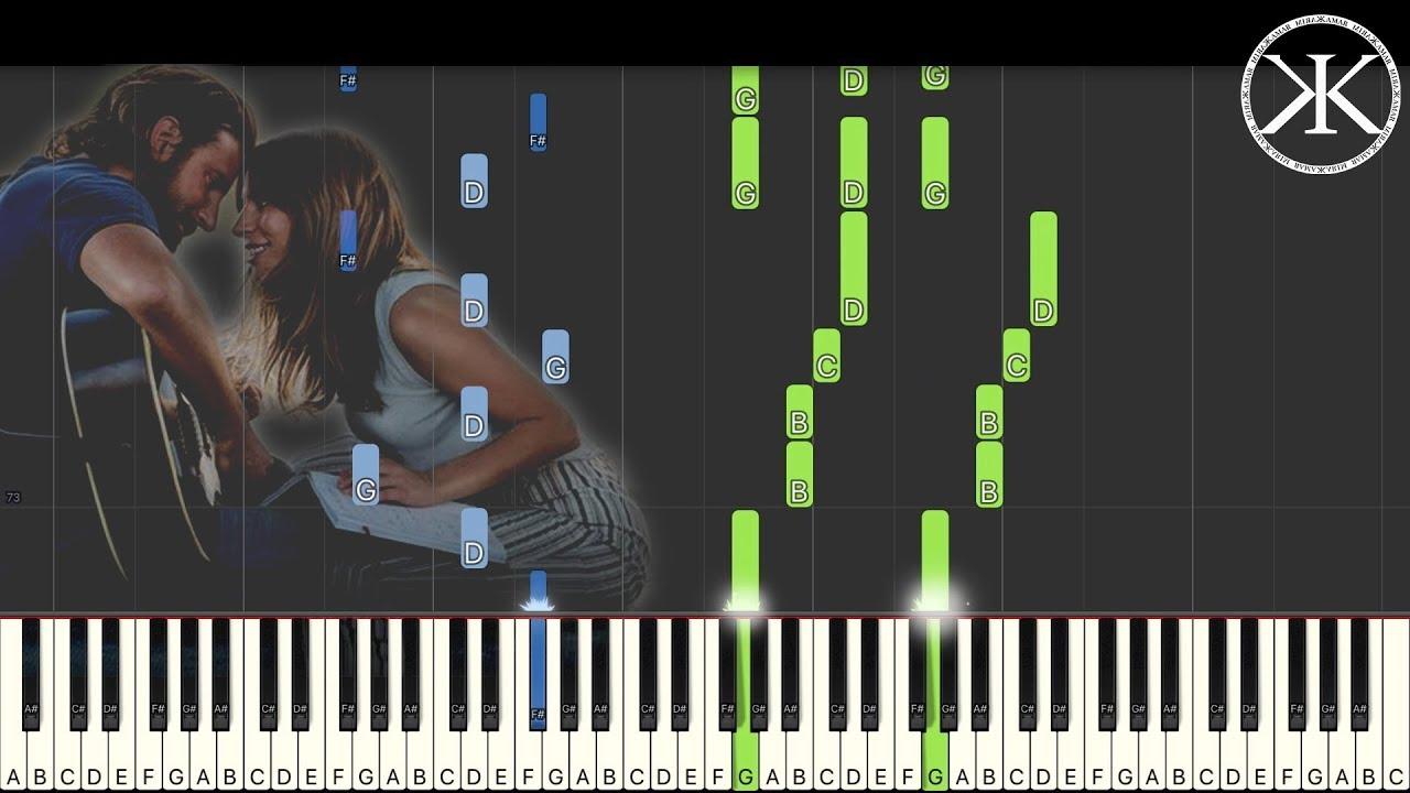 H.I.P.I : Shallow - Lady Gaga + Bradley Cooper - Karim Kamar [Piano Tutorial] (Synthesia) image