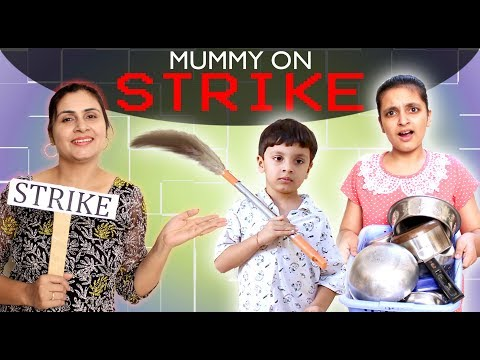 MORAL STORY FOR KIDS - MUMMY ON STRIKE | #Fun #RolePlay Good habits
