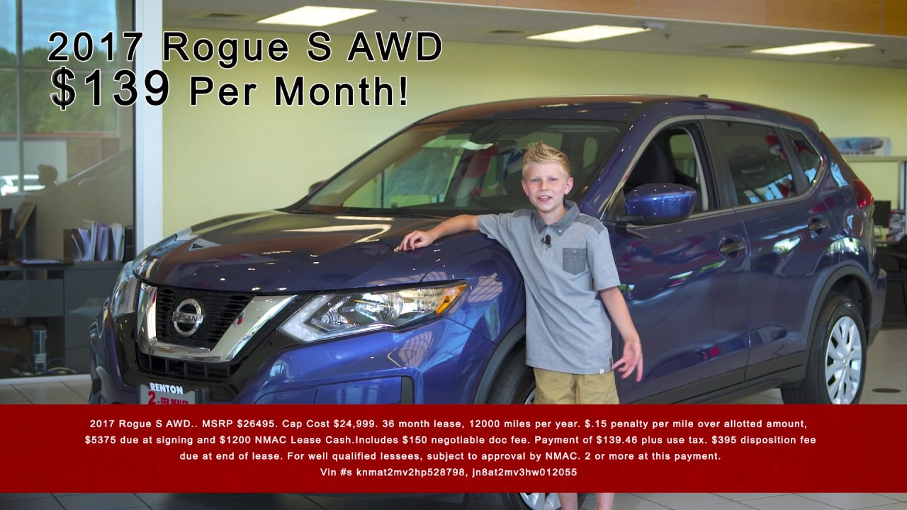 Younker Nissan of Renton is having a Rogue Special Sales Event ...
