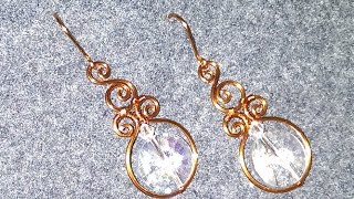 Simple earring with big stones - How to make handmade jewelry 10