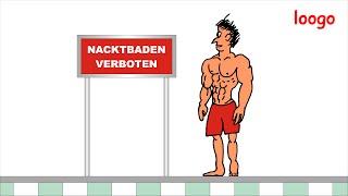 loogo: Nacktbaden verboten