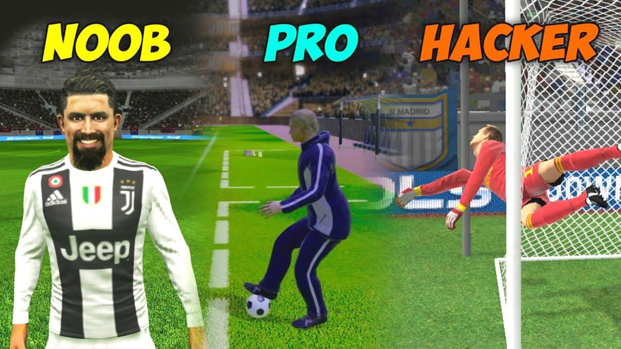 NOOB🥵 vs PRO🤩 vs HACKER😵 | #5 Dream League Soccer 2021 HD