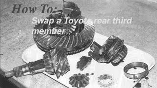 How To: Swap A Toyota Rear Third Member