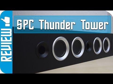 Torre de sonido Thunder Tower de SPC, Altavoz de 40w de sonido en pura barra