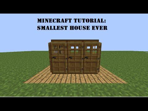 minecraft tutorial smallest house ever