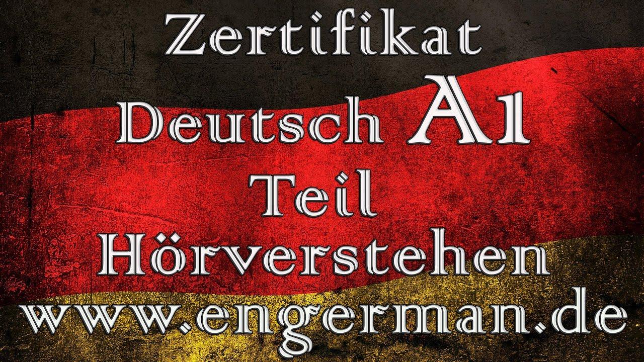 Zertifikat Deutsch A1 Hörverstehen A1 Modelltest 2 Youtube