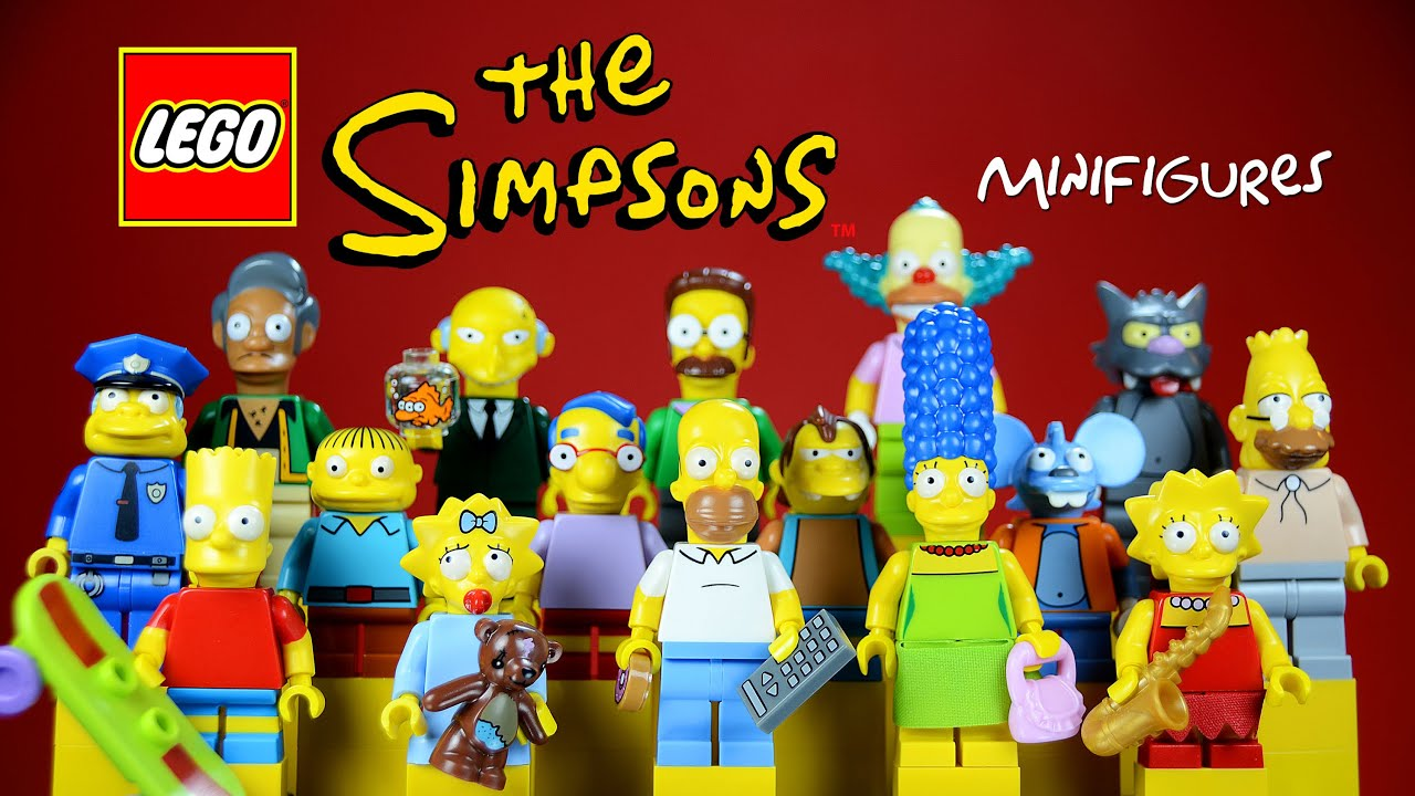 Lego the simpsons series minifigure collection 71005 with homer marge bart lisa maggie youtube - Marge simpson et bart ...