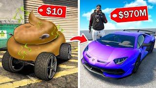 10$ AUTO vs 50,000.000$ HYPERCAR in GTA 5!