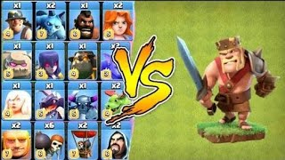 Max BARBARIAN KING vs All troops max    Clash of Clans Private server