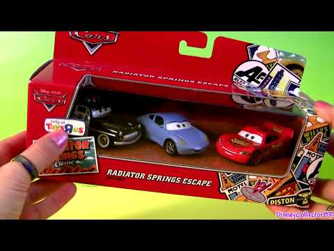 3-PACK CARS Fancy New Road Lightning McQueen & Sally Radiator Springs Escape by Disneycollector