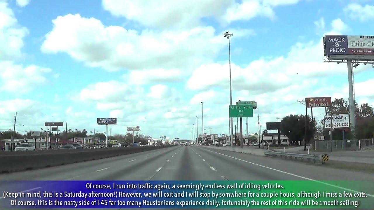 I-45 Houston, TX from Galveston to Conroe