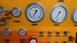 Випробування запобіжного клапана стенду-інструкція+цифрове управління