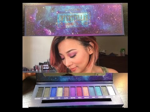 Hot Topic Black Heart Interstellar Eyeshadow Collection Palette review!