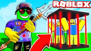 Took the BOSS's WEAPON and put EVERYONE behind BARS! New simulator of PITCHING in Roblox