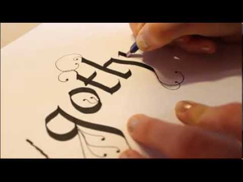 How To Start Writing Calligraphy Writting 39 Gothic 39 In