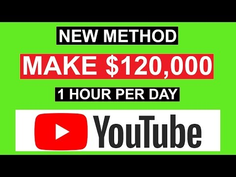(New Method) MAKE $120,000 ON YOUTUBE IN 1 HOUR *How To Make Money On Youtube*