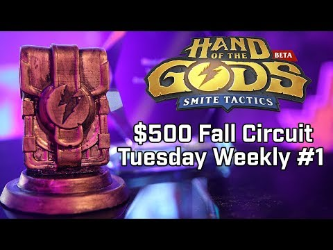 Hand of the Gods Fall Circuit Weekly Tuesday $500 Prize