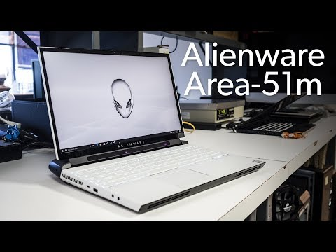 Alienware Area-51m unboxed and benchmarked