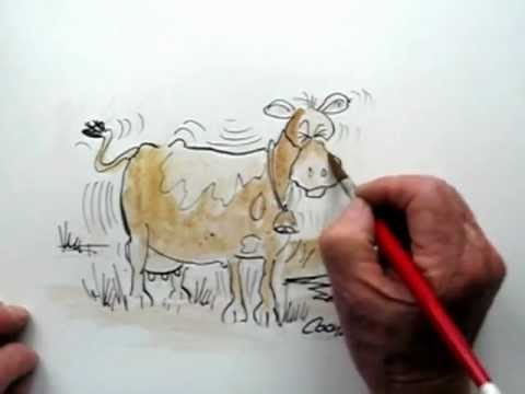 How To Draw A Cow In A Earthquake Youtube