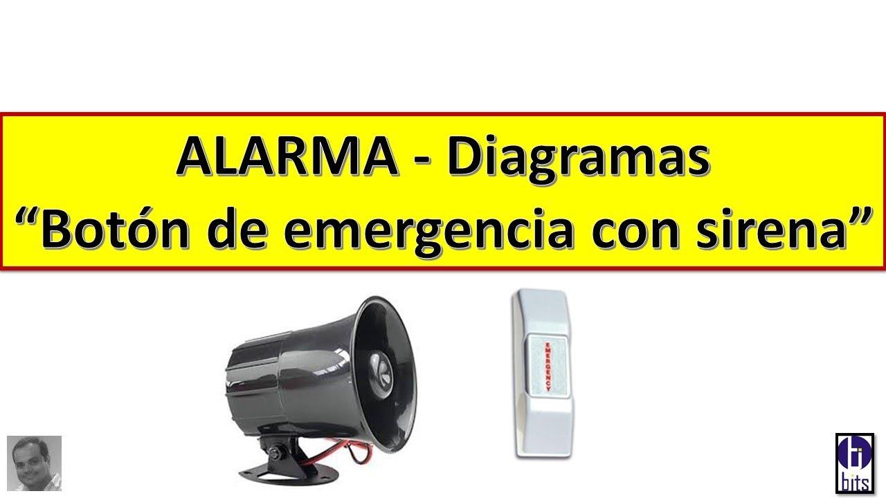 Alarma CCTV - Botón de Pánico y Sirena