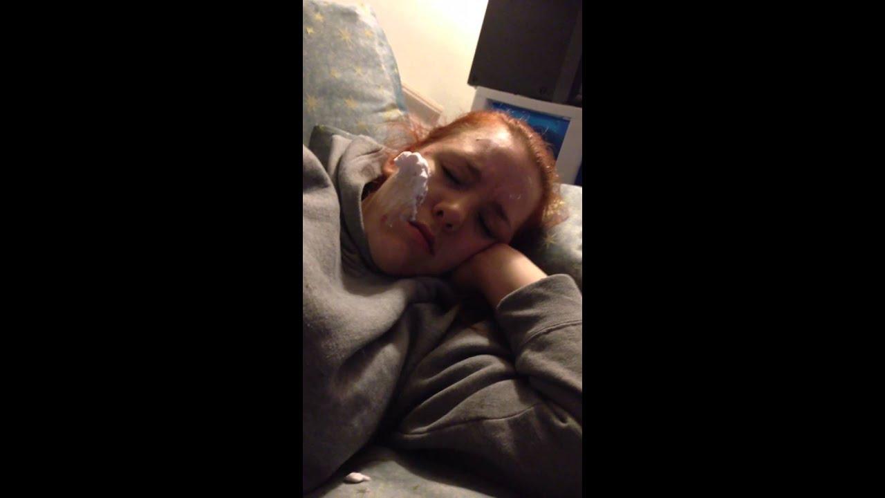 Sleeping girlfriend